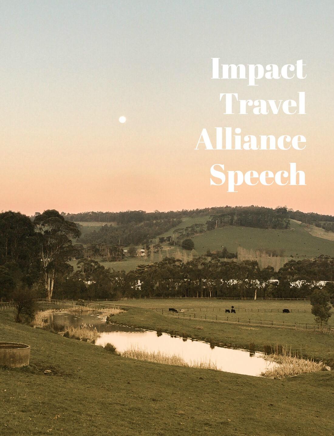 PROGRESS OVER PERFECTION – MY IMPACT TRAVEL ALLIANCE SPEECH
