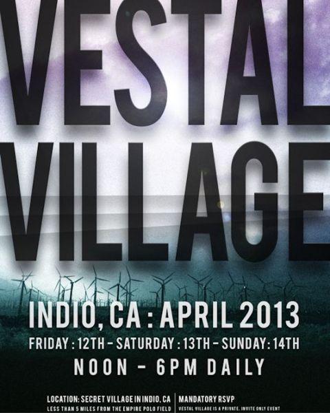 vestal village coachella 2013 poster