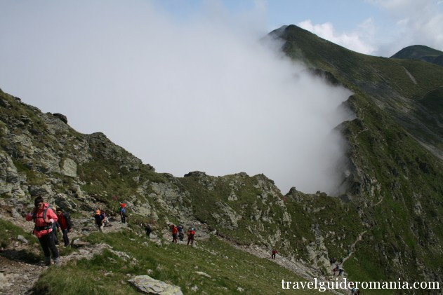 main ridge in Fagaras mountains