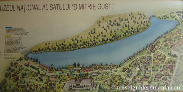 map of Dimitrie Gusti National museum