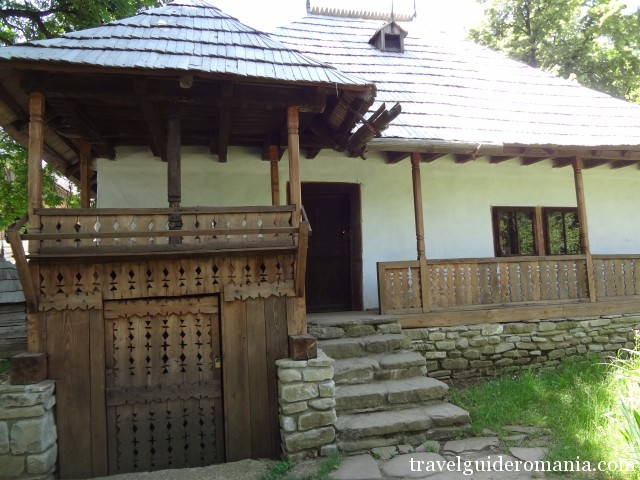House from a scattered village at the foot of Bucegi mountains