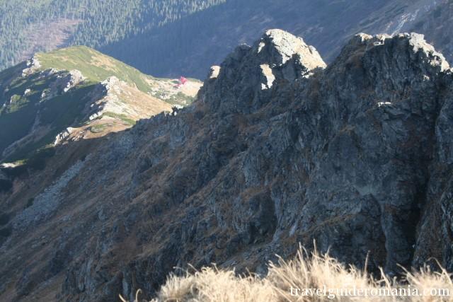 Piciorul Mosului ridge - climbing route