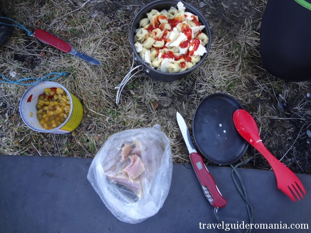 food on the mountain