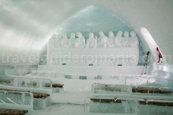 Church of ice at Balea Lac