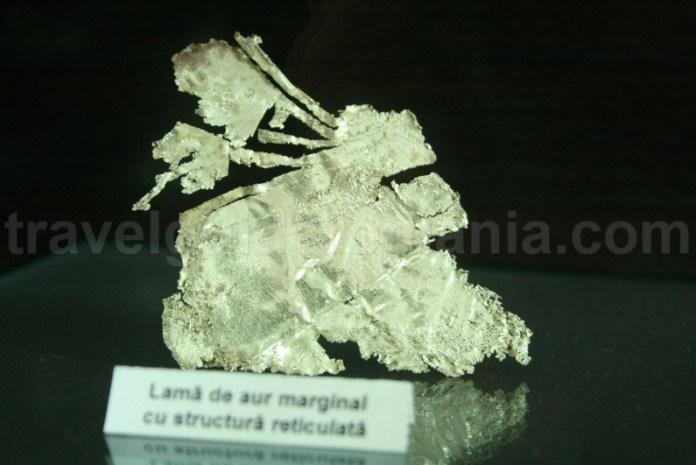 Lama de aur - Muzeul Aurului - Brad
