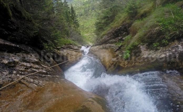 Cascada sapte din canionul Cailor - Canyoning in Romania