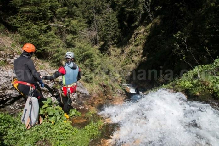 Tehnici folosite in canyoning - Canionul Cailor - Romania