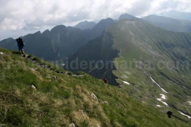 Urcare spre Varful Moldoveanu - Muntii Fagaras