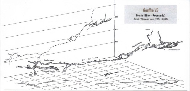 Harta Avenul V5 (Pestera V5) - Padis