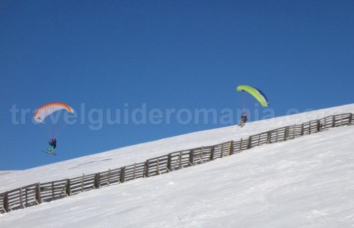 Kite schiing la Sinaia - Valea Prahovei - Romania