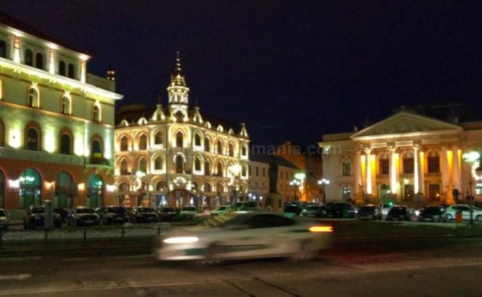 Piata Ferdinand Teatrul de stat si Hotel Astoria Oradea