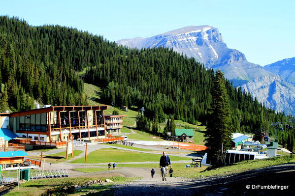 Departing the Sunshine Meadows Day Ski Lodge (called a