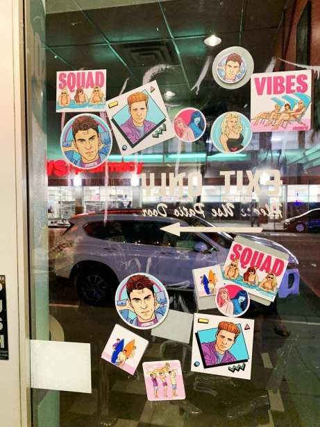 Beverly Hills 90210 stickers