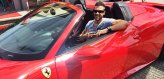 Marcus im Ferrari F458 Spider