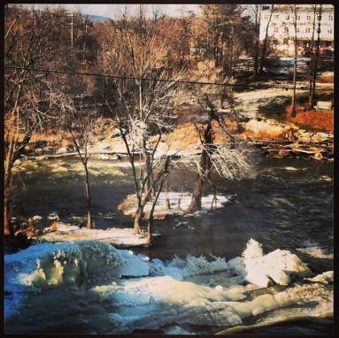A frigid, beautiful morning overlooking Otter Creek Falls.