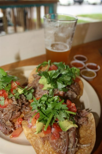 Carnitas Tostada at Mad Taco, Waitsfield, Vermont