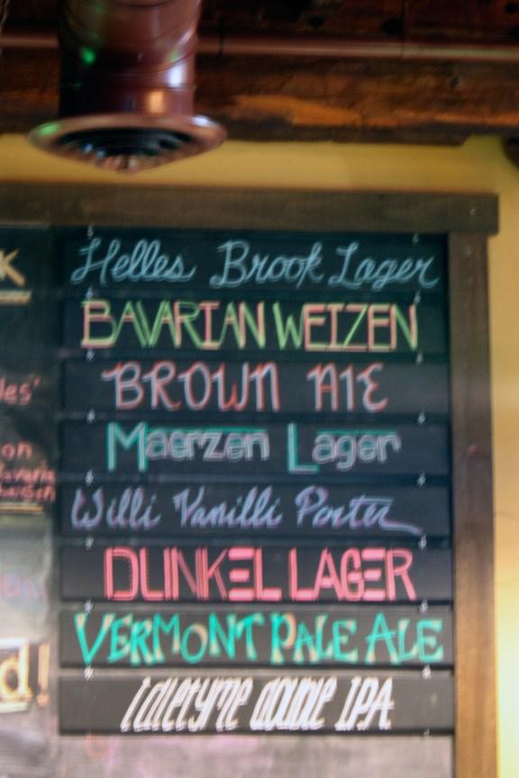 Chalkboard Draft List at Crop Bistro