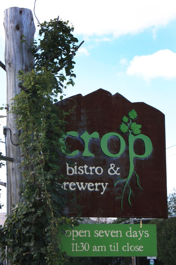 Crop Bistro & Brewery Sign