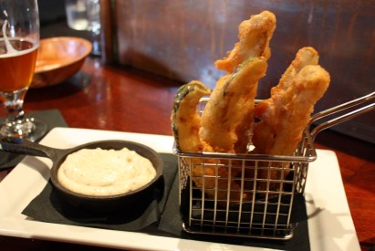 Fried Pickle Spears at Crop Bistro in Stowe