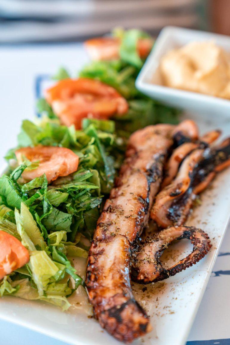 Grilled Octopus Santorini Greece