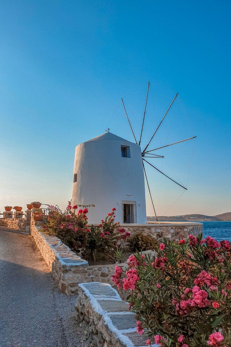 Windmill Parikia Paros Greece