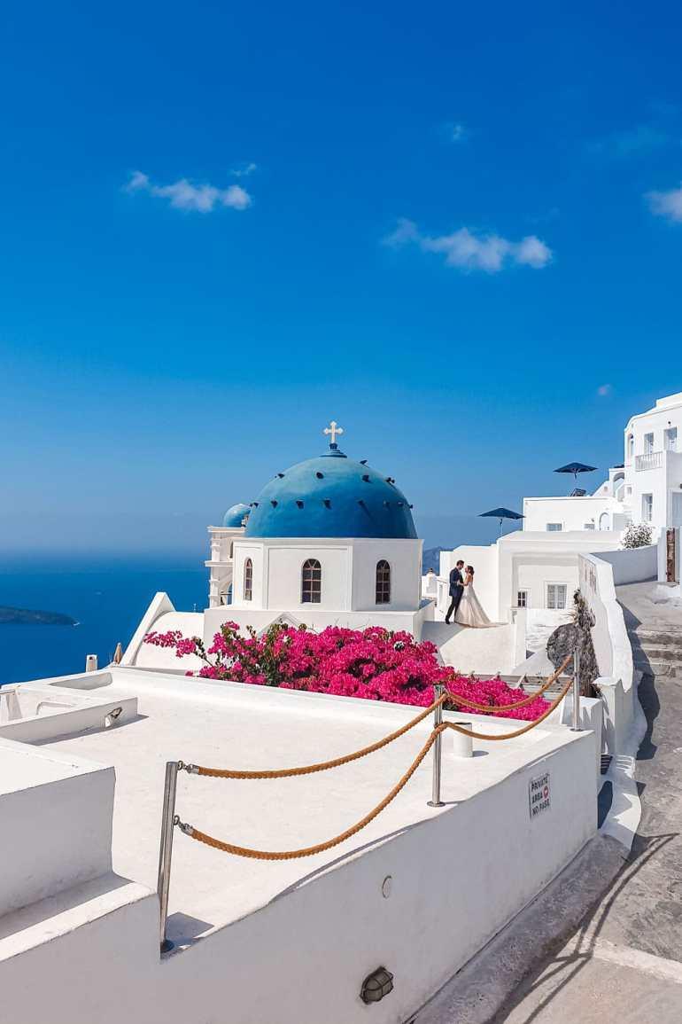 Wedding Photos Taken in Santorini