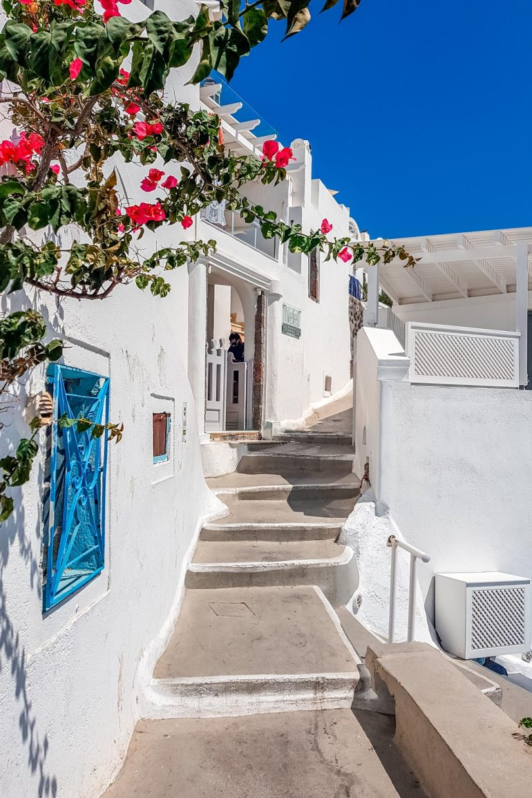 White Street Santorini on a Budget