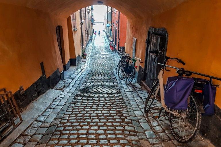 Cobblestone Street Gamla Stan Stockholm