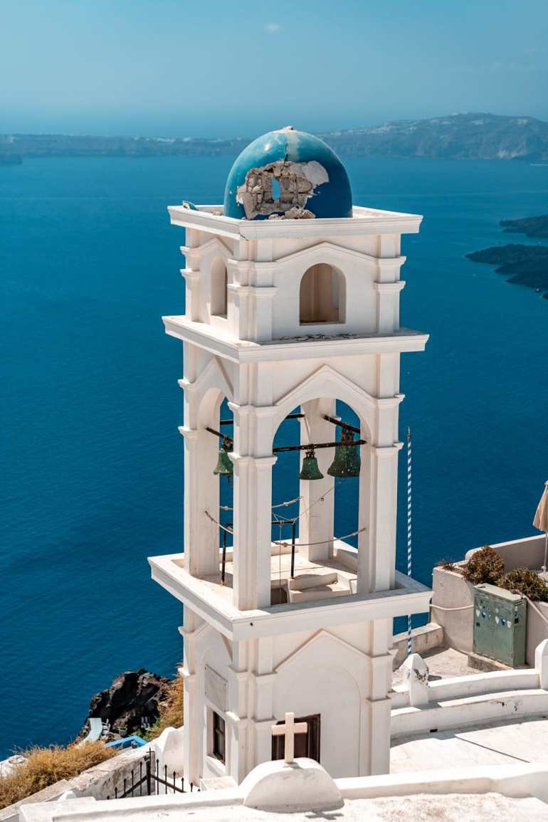 Church at Imerovigli Greek Island Hopping