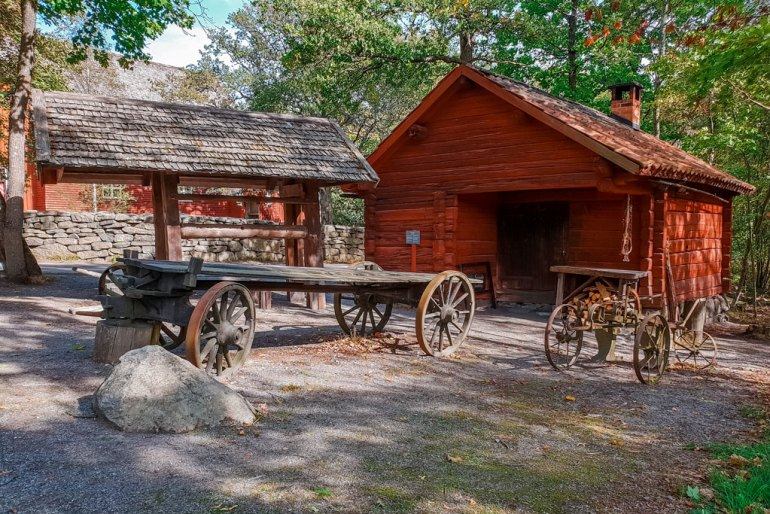 Stockholm Open Air Museum Wooden Houses