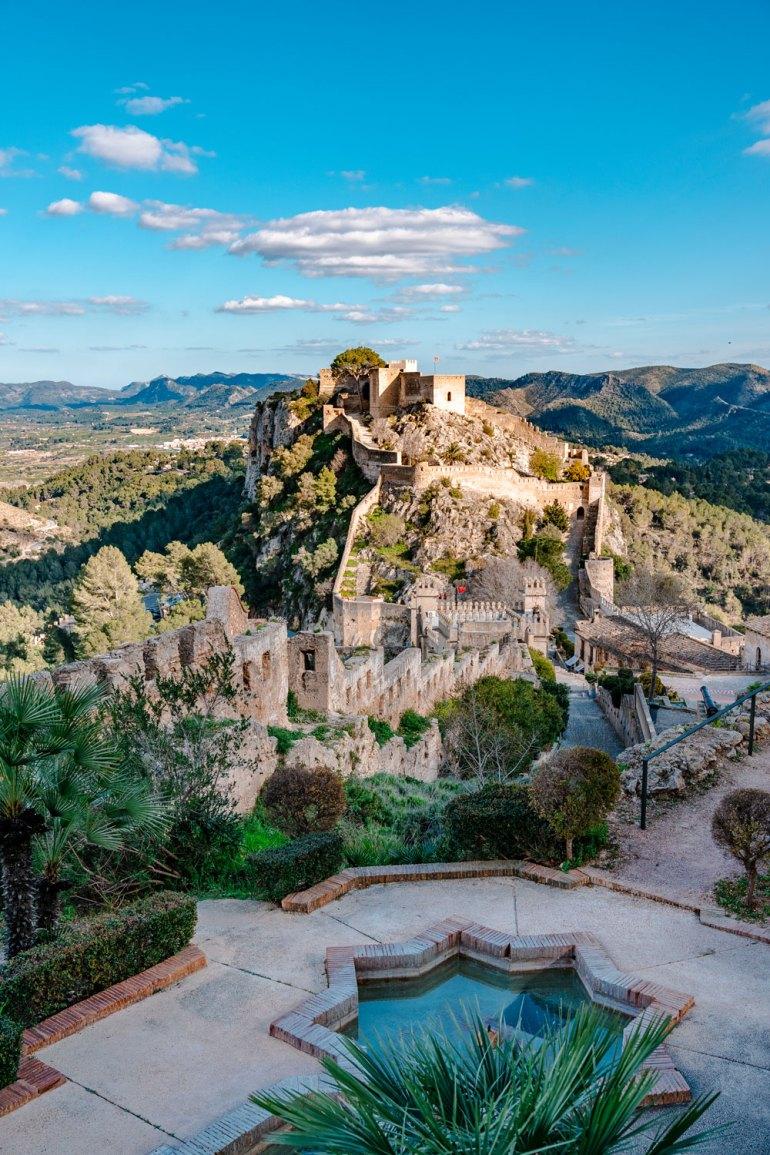 Amazing View to Xativa Castle