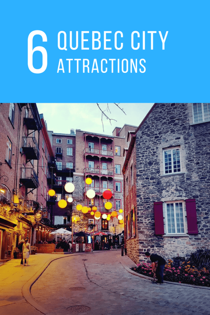 Picture shows a street in Quebec City