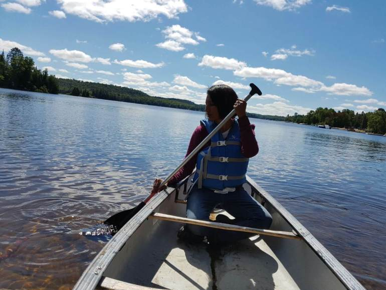 Canoeing in Oxtongue Lake