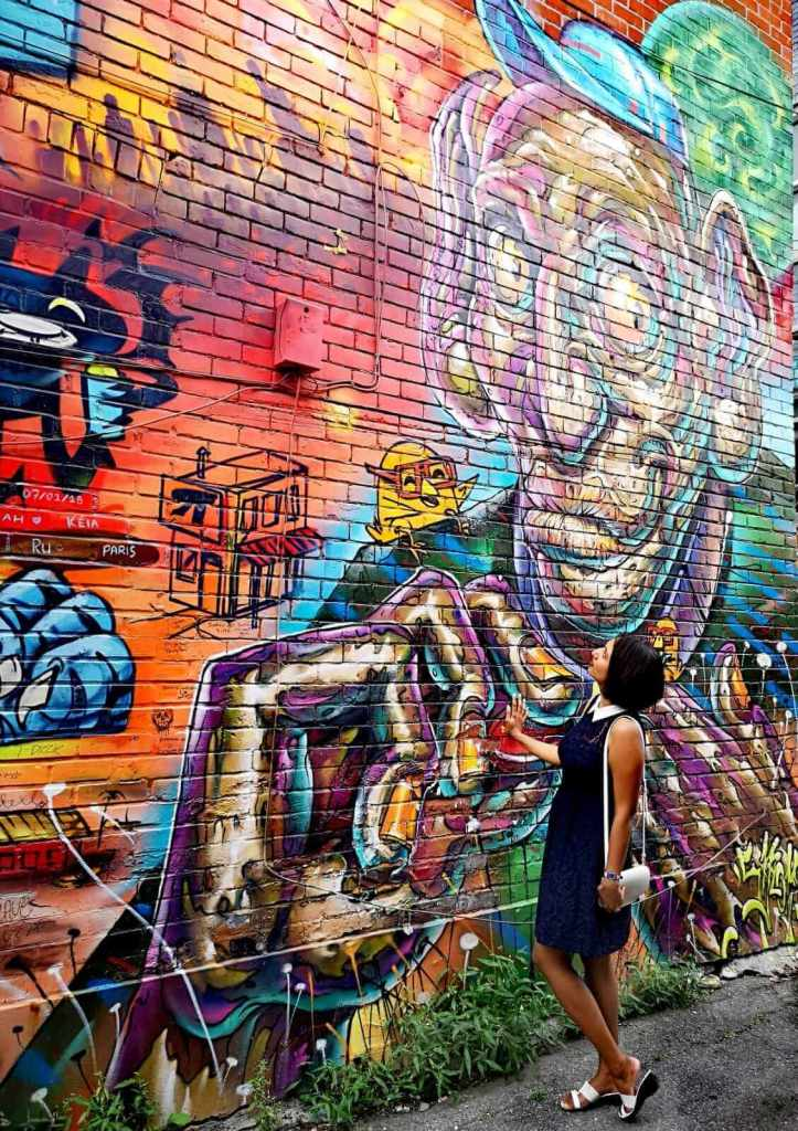 Man With Yellow Nails - Art On Graffiti Alley Toronto