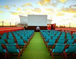 Cool and Unusual Things to do in London - Rooftop Cinema at Bussey Building