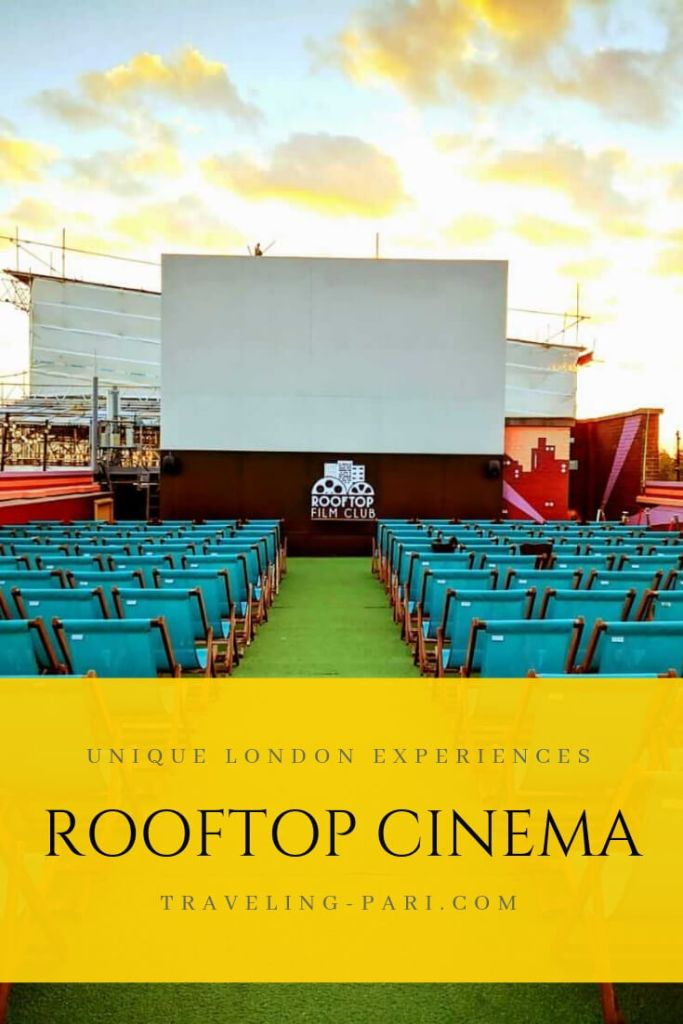 Cool and Unusual Experiences in London - Rooftop Cinema at the Bussey Building in Peckham.