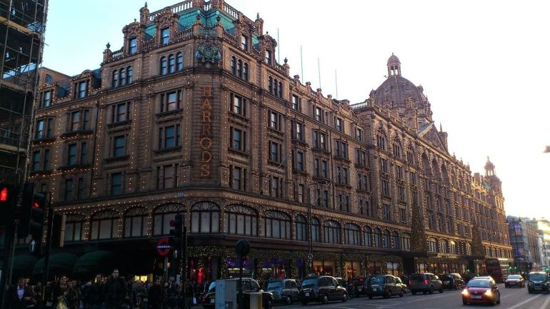 Shop high-end brands such as Louis Vuitton, Prada, Dior and others at Harrods in London