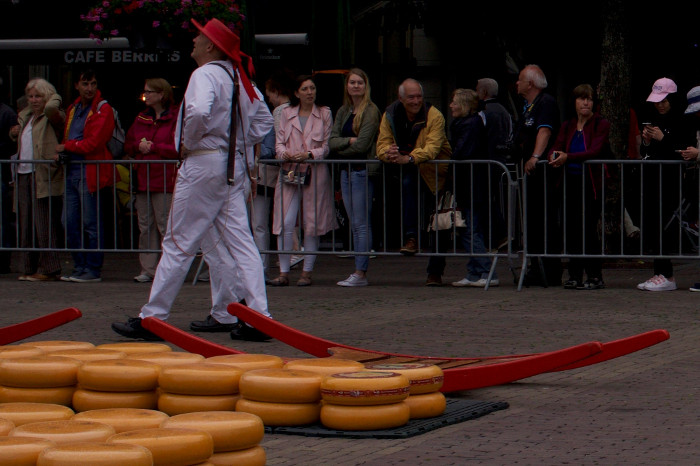 Traditional dress of the cheese porters of the Netherlands
