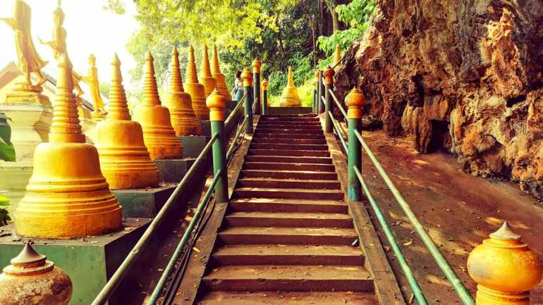Steps to the summit of Tiger Cave Temple