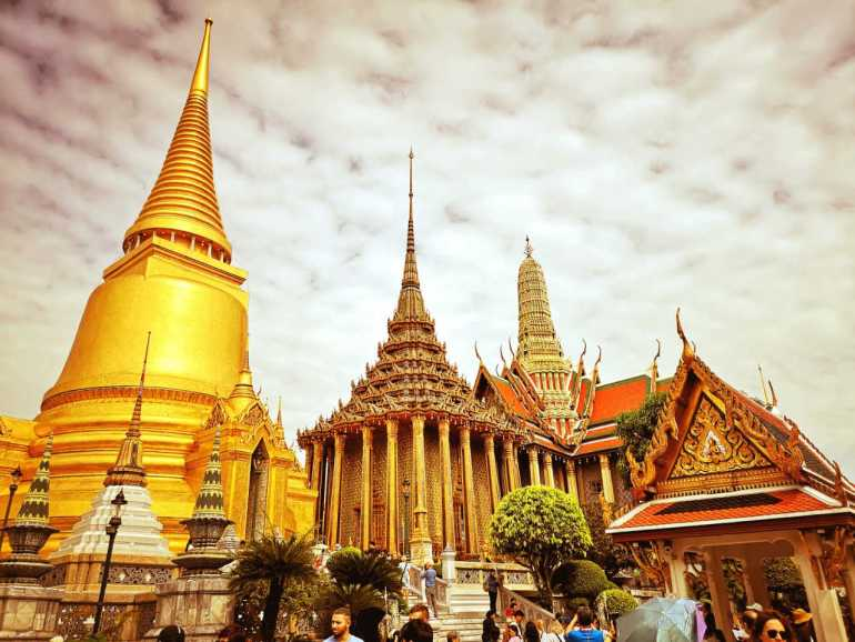 The first stop on the 2 day Itinerary  is  Grand Palace and temple of the Emerald Buddha.