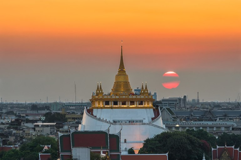 Wat Saket also known as the Golden Mount temple is one of temples you should include in your Bangkok itinerary