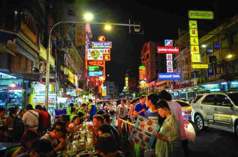 Yaowarat road in China town, Bangkok, is famous for it's street food market.