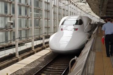 Shinkansen or bullet train in Japan