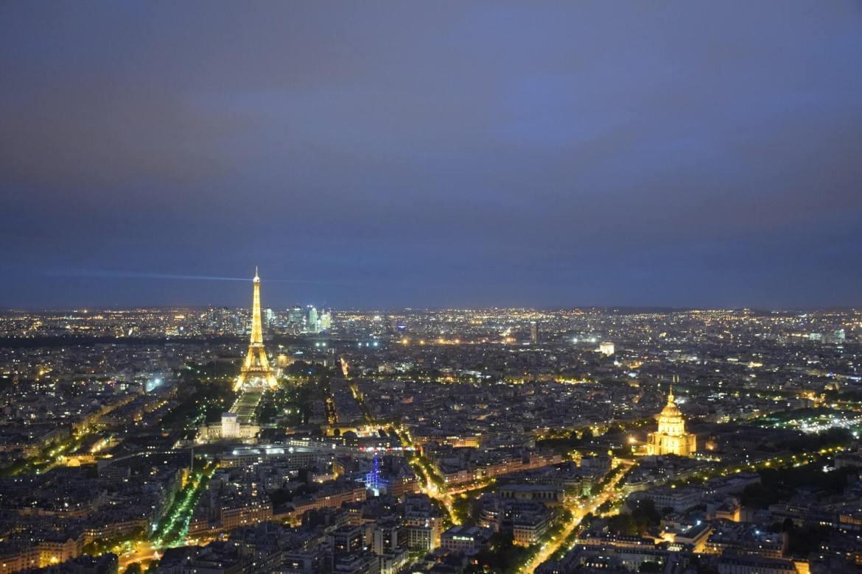 Night-view of Paris from Montparnasse Tower