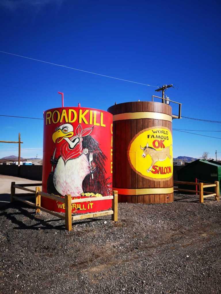 Roadkill Cafe restaurant at the Seligman Depot