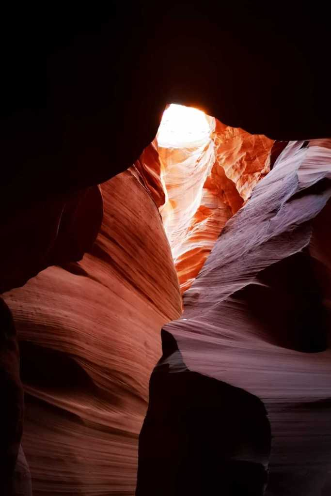 Antelope Canyon X  - sunlight peeping in through the roof
