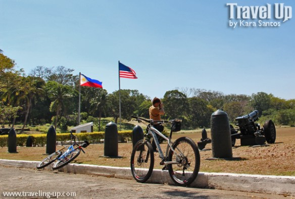 corregidor biking cannons flags