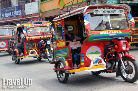 tawi-tawi tricycles in downtown bongao