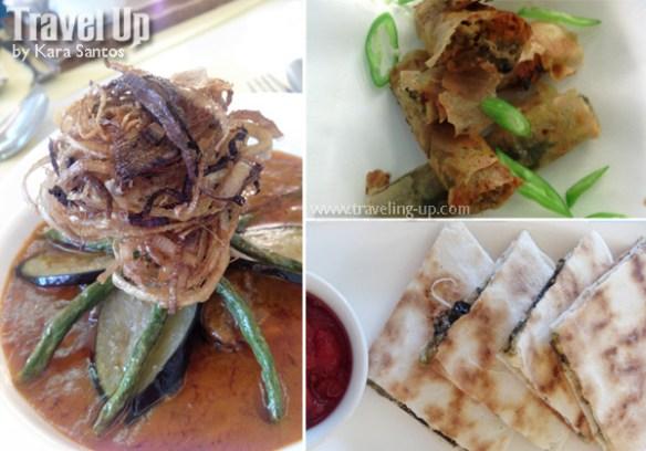 white bean naga city kare-kare pinangat rolls laing quesadilla