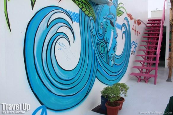 mnl beach hostel boracay artwork